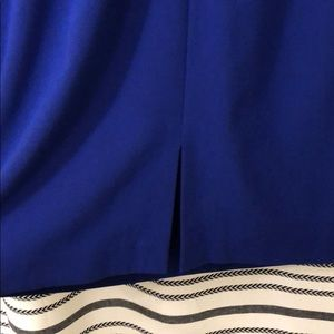 771b0c6596e219 Chelsea Rose Dresses - Indigo Blue Sleeveless Sheath Dress